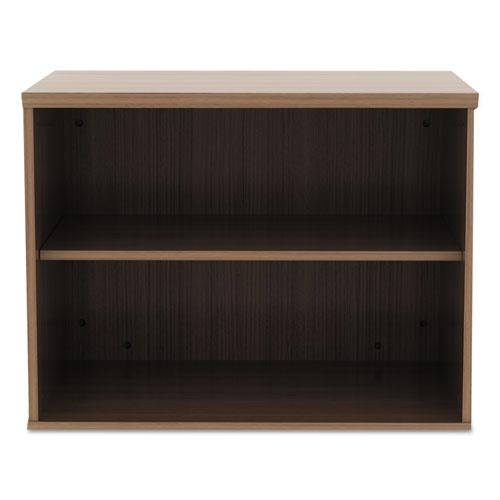 Alera Open Office Low Storage Cabinet Credenza, 29 1/2 x 19 1/8x 22 7/8, Walnut. Picture 4