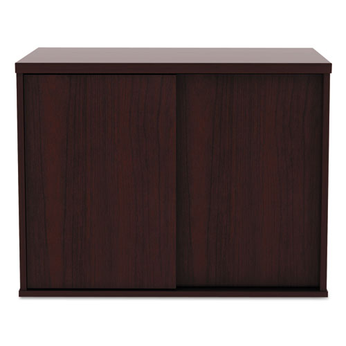 Alera Open Office Low Storage Cab Cred, 29 1/2w x 19 1/8d x 22 7/8h, Mahogany. Picture 7