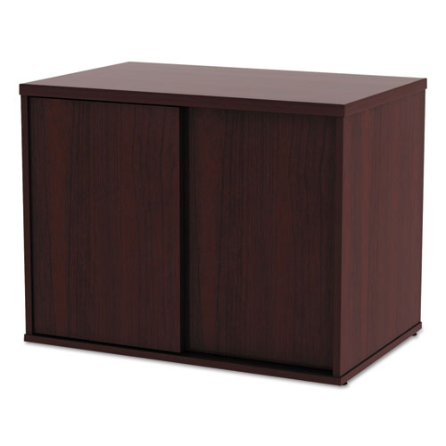 Alera Open Office Low Storage Cab Cred, 29 1/2w x 19 1/8d x 22 7/8h, Mahogany. Picture 8