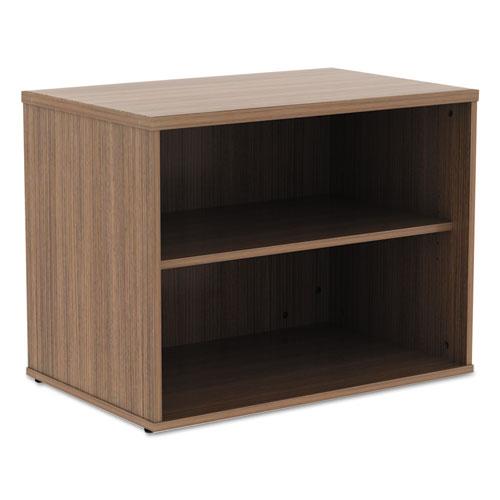 Alera Open Office Low Storage Cabinet Credenza, 29 1/2 x 19 1/8x 22 7/8, Walnut. Picture 5