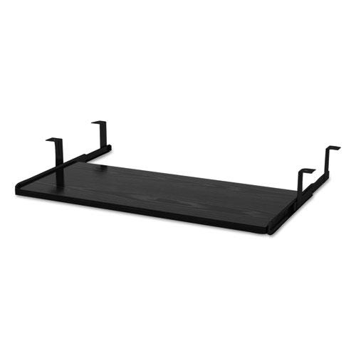 Alera Valencia Series Underdesk Keyboard/Mouse Shelf, 28w x 12d, Black. Picture 3
