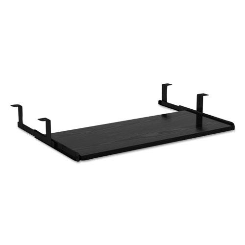 Alera Valencia Series Underdesk Keyboard/Mouse Shelf, 28w x 12d, Black. Picture 1