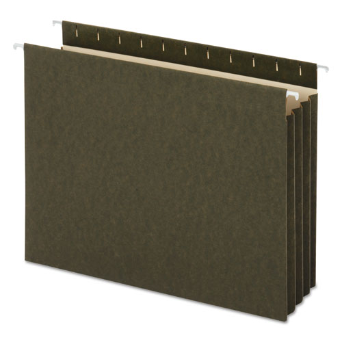 Hanging Box Bottom File Pockets, Letter Size, Standard Green, 10/Box. Picture 1