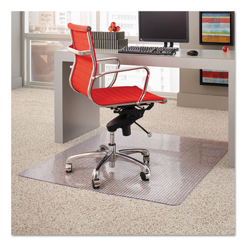 Dimensions Chair Mat for Carpet, Rectangular, 46 x 60, Clear. Picture 1