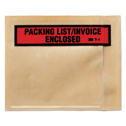 Top Print Self-Adhesive Packing List Envelope, 4.5 x 5.5, Clear, 1,000/Box. Picture 2