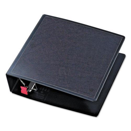 "SuperLife Easy Open Locking Slant-D Ring Binder, 3 Rings, 3"" Capacity, 11 x 8.5, Black. Picture 4"