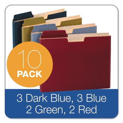 """File Folder Pocket, 0.75"""" Expansion, Letter Size, Assorted, 10/Pack. Picture 2"""