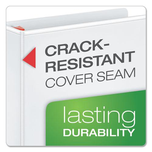 """XtraLife ClearVue Non-Stick Locking Slant-D Ring Binder, 3 Rings, 4"""" Capacity, 11 x 8.5, White. Picture 3"""