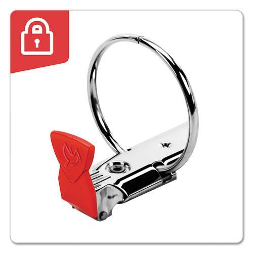 "Premier Easy Open Locking Round Ring Binder, 3 Rings, 3"" Capacity, 11 x 8.5, Medium Blue. Picture 3"