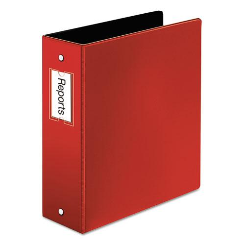 """Premier Easy Open Locking Round Ring Binder, 3 Rings, 3"""" Capacity, 11 x 8.5, Red. Picture 1"""
