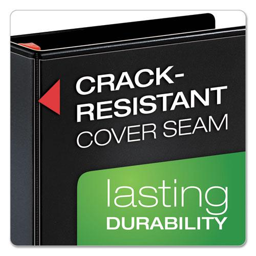 "XtraLife ClearVue Non-Stick Locking Slant-D Ring Binder, 3 Rings, 1"" Capacity, 11 x 8.5, Black. Picture 4"