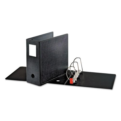 "SuperLife Easy Open Locking Slant-D Ring Binder, 3 Rings, 5"" Capacity, 11 x 8.5, Black. Picture 2"