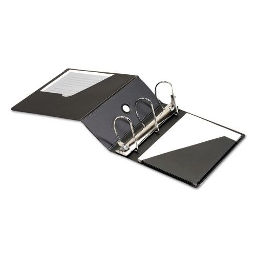 "SuperStrength Locking Slant-D Ring Binder, 3 Rings, 5"" Capacity, 11 x 8.5, Black. Picture 3"
