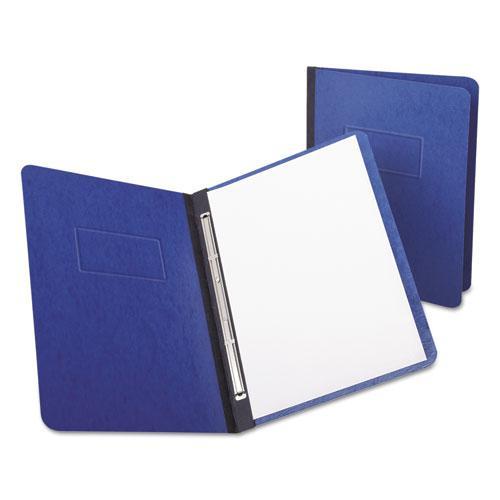 "PressGuard Report Cover, Prong Clip, Letter, 3"" Capacity, Dark Blue. Picture 1"