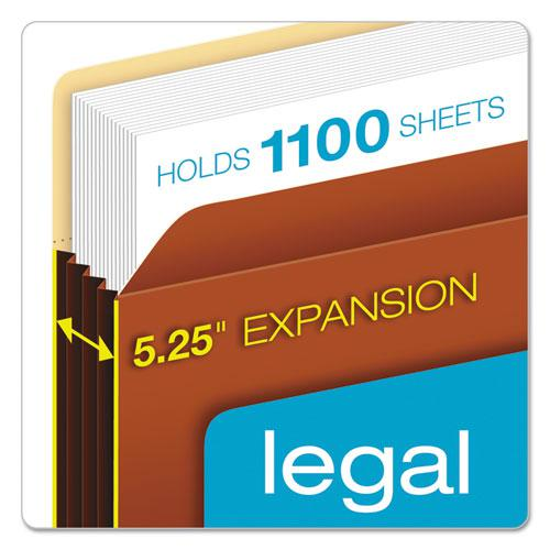 """File Pocket w/ Tyvek, 5.25"""" Expansion, Legal Size, Redrope, 10/Box. Picture 2"""