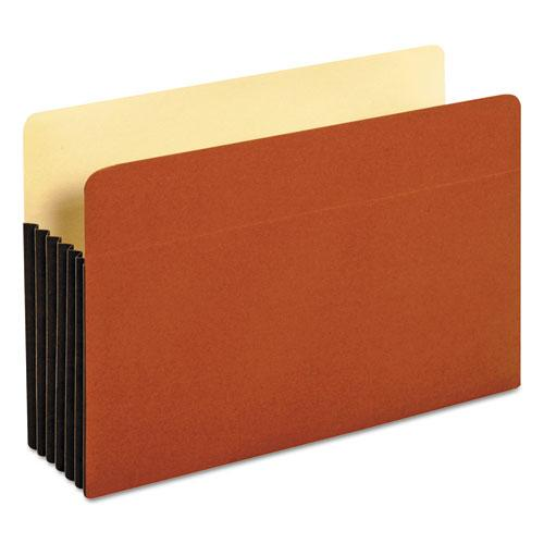 """File Pocket w/ Tyvek, 5.25"""" Expansion, Legal Size, Redrope, 10/Box. Picture 1"""