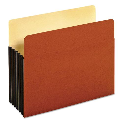 "File Pocket w/ Tyvek, 5.25"" Expansion, Letter Size, Redrope, 10/Box. Picture 1"