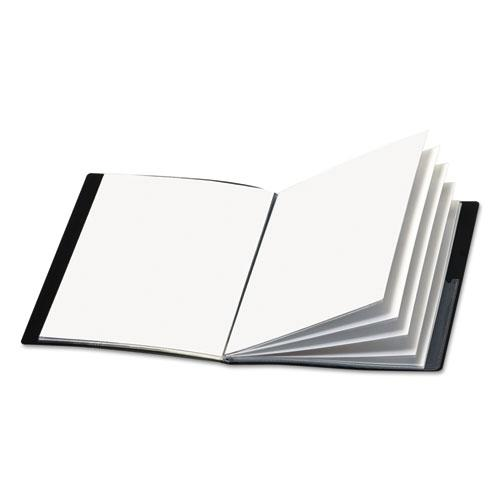 ShowFile Display Book w/Custom Cover Pocket, 24 Letter-Size Sleeves, Black. Picture 1