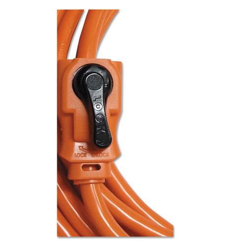 Indoor Extension Cord Locking Plug 100ft Orange