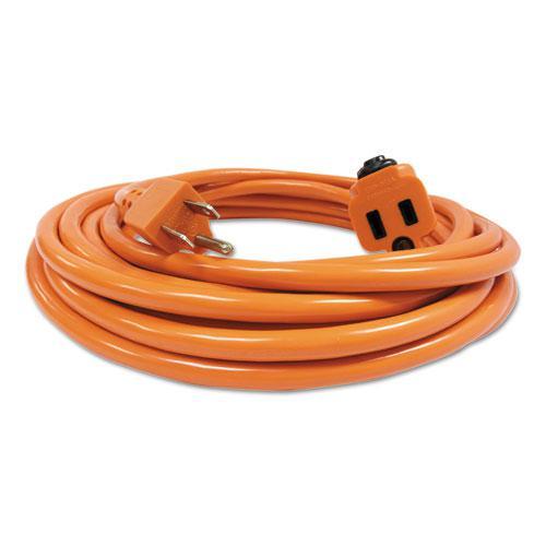 Indoor Extension Cord Locking Plug 25ft Orange