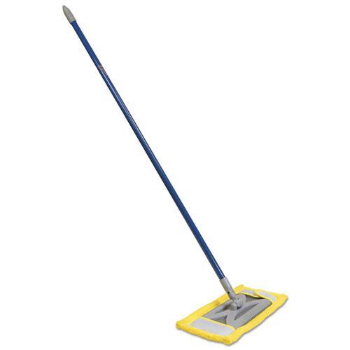 Microfiber Floor Mop 48 Quot Handle 6 1 2 X 2 1 2 Frame Blue