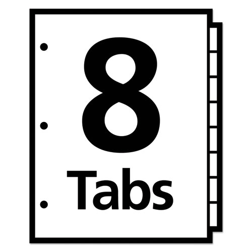 Write and Erase Big Tab Paper Dividers, 8-Tab, White, Letter. Picture 3