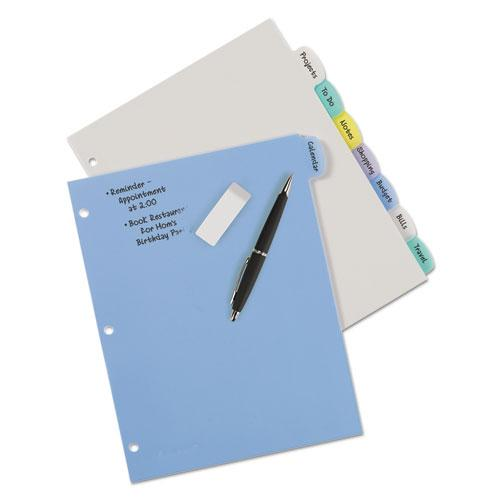 Write and Erase Big Tab Durable Plastic Dividers, 3-Hold Punched, 8-Tab, 11 x 8.5, Assorted, 1 Set. Picture 6