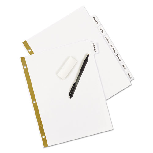 Write and Erase Big Tab Paper Dividers, 8-Tab, White, Letter. Picture 4