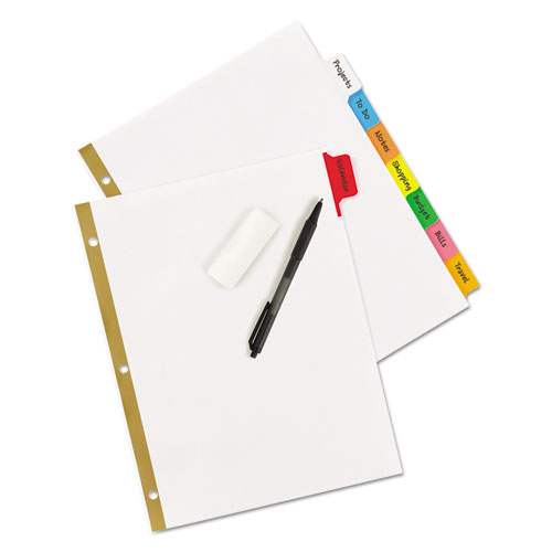 Write and Erase Big Tab Paper Dividers, 8-Tab, Multicolor, Letter. Picture 4