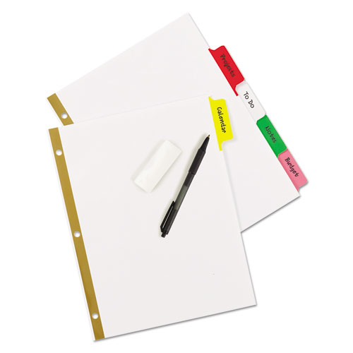 Write and Erase Big Tab Paper Dividers, 5-Tab, Multicolor, Letter. Picture 4