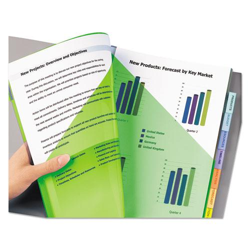 Insertable Big Tab Plastic 2-Pocket Dividers, 8-Tab, 11.13 x 9.25, Assorted, 1 Set. Picture 6