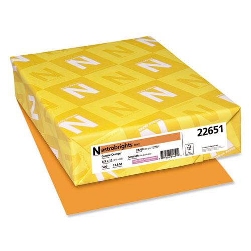 Color Paper, 24 lb, 8.5 x 11, Cosmic Orange, 500/Ream. Picture 1