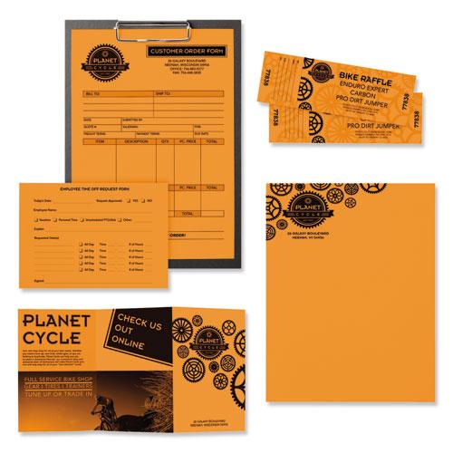 Color Paper, 24 lb, 8.5 x 11, Cosmic Orange, 500/Ream. Picture 3