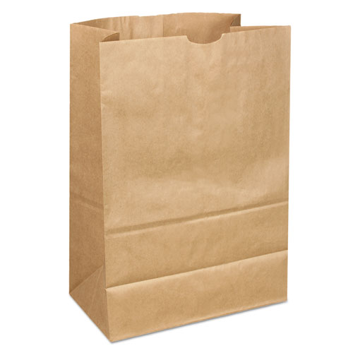 "Grocery Paper Bags, 40 lbs Capacity, 1/6 40/40#, 12""w x 7""d x 17""h, Kraft, 400 Bags. The main picture."