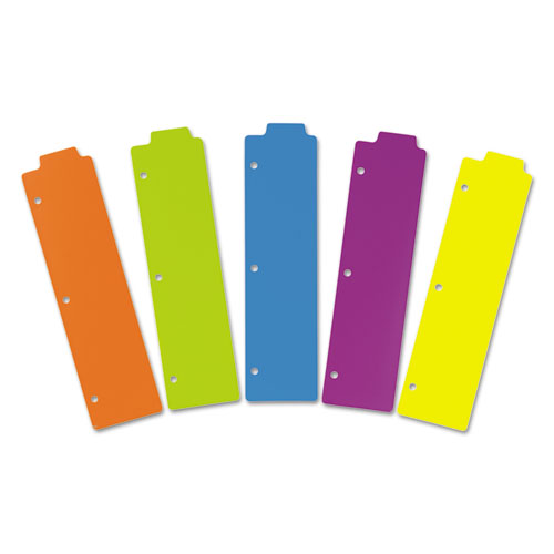 Tabbed Snap In Bookmark Plastic Dividers Assorted Solid