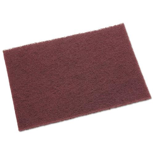General Purpose Hand Pad, 6 x 9, Maroon, 20 BX, 3 BX/CT. Picture 2