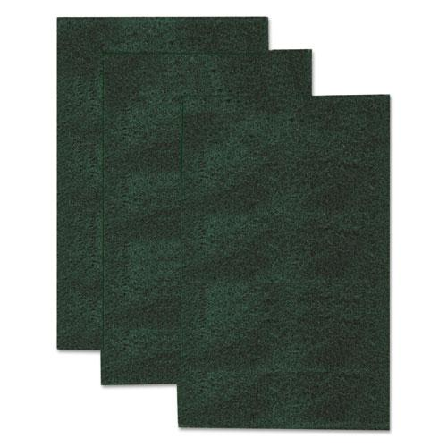"""Heavy-Duty Scour Pad, 3 4/5"""" x 6"""", Green, 3/Pack. Picture 2"""