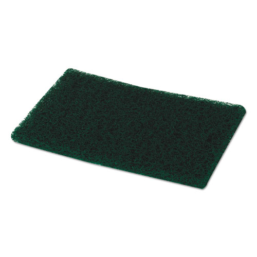 Heavy-Duty Scour Pad, Green, 6 x 9, 15/Carton. Picture 3
