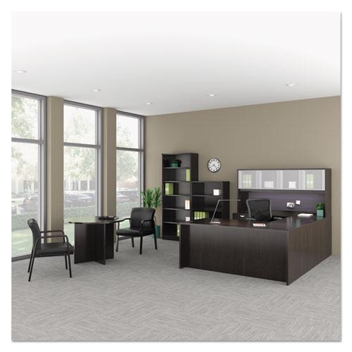 Alera Elusion Series Mesh Mid-Back Multifunction Chair, Supports up to 275 lbs, Black Seat/Black Back, Black Base. Picture 6