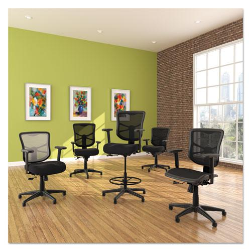 "Alera Elusion Series Mesh Stool, 31.6"" Seat Height, Supports up to 275 lbs., Black Seat/Black Back, Black Base. Picture 3"