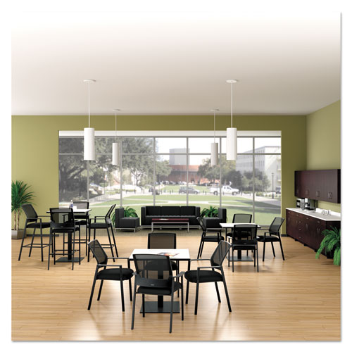 Alera QUB Series Powered Armless L Sectional, 26.38w x 26.38d x 30.5h, Black. Picture 3