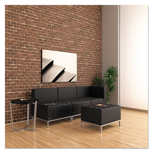 Alera QUB Series Powered Armless L Sectional, 26.38w x 26.38d x 30.5h, Black. Picture 5