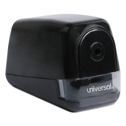 "Electric Pencil Sharpener, AC-Powered, 3.13"" x 5.75"" x 4"", Black"
