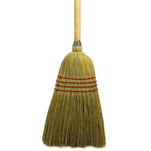 "Maid Broom, Mixed Fiber Bristles, 55"" Long, Natural. Picture 1"