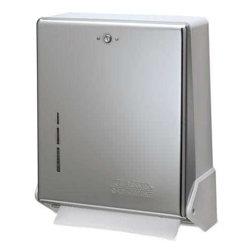 True Fold C-Fold/Multifold Paper Towel Dispenser, 11.63 x 5 x 14.5, Chrome. Picture 1