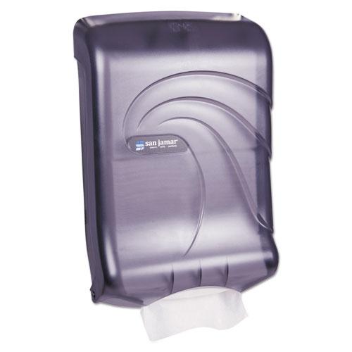 Ultrafold Multifold/C-Fold Towel Dispenser, Oceans, 11.75 x 6.25 x 18, Transparent Black Pearl. Picture 1
