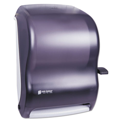 Lever Roll Towel Dispenser, Classic, 12.94 x 9.25 x 16.5, Transparent Black Pearl. Picture 1