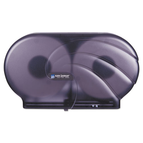"Twin 9"" JBT Toilet Tissue Dispenser, Oceans, 19 x 5 1/4 x 12, Black Pearl. Picture 1"