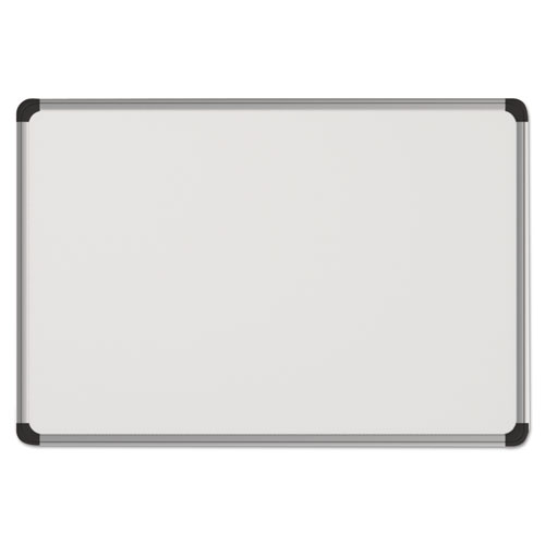 Magnetic Steel Dry Erase Board, 48 x 36, White, Aluminum Frame. Picture 1