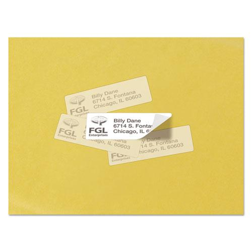 Repositionable Address Labels w/SureFeed, Laser, 1 x 2 5/8, White, 3000/Box. Picture 2